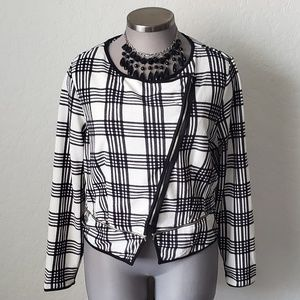 CUTE PLAID LIGHTWEIGHT ZIP FRONT JACKET Sz. 3xl